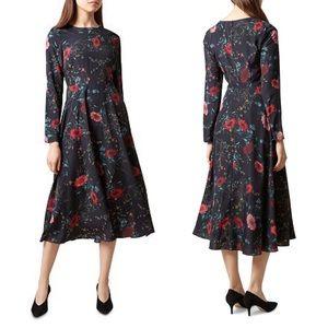 Hobbs London Chloe Floral Midi Dress Size 8